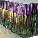 Fun Express Mardi Gras Metallic Fringe Table Skirt