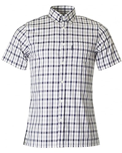 aquascutum-emsworth-short-sleeved-club-check-shirt-blue-medium