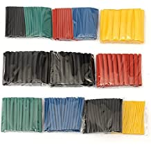 Alcoa Prime 280Pcs D Style 45mm 2: 1 Polyolefin Halogen- Heat Shrink Tube Tubing Sleeving Wrap Wire Cable Kit...