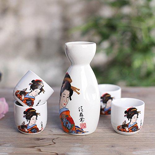 ankoow-service-a-sake-japonais-avec-quatre-tasses-beaute-classique-peint-a-la-main-motif-style-poter