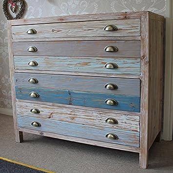 4 madera azul argentería