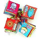 AbleGrow (TM) 2015nuevos juguetes Bebés Gamuza Libros Conocimiento multifunción Colorful cama Animal Libros para el bebé