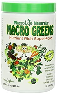 Macro Greens Nutrient-Rich Super Food Supplement, 30 Servings, 10 oz (283.5 g), Package May Vary