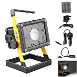 GRDE⢠Newest Ultra-compact Portable outdoor lightingï¼ Waterproof led flood lights, 12 W 1200Lumenssecurity lights,outside lights, led spotlights, task light,Work Light Waterproof Design 3 Modes for Camping Hiking ,BOATS, Car,Detachable Rechargeable B
