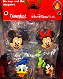 Disney Park Mickey Mouse and Pals Faces Vinyl Magnet Set of 4 NEW