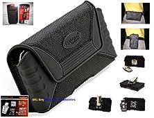 buy Rugged Qx Xx-Large Heavy Duty Horizontal/Vertical Black Cover Case W/Detachable Swivel Quad Lock Metal Steel Belt Clip For Verizon Casio G'Zone Commando C771