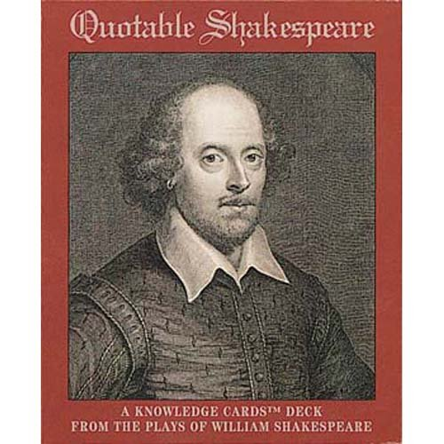 QUOTABLE SHAKESPEARE KNOWLEDGE CARDS - 1