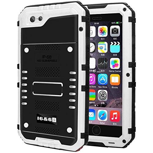 防水ケース Kirlor 携帯電話ケース iPhone 6/6s/6 plus/6s plus対応 IP68保護等級 防水防滴/防塵/防雪/耐衝撃 ストラップ付き 全密封アイフォンカバー 指紋認識可(iphone6/6s兼用/白)