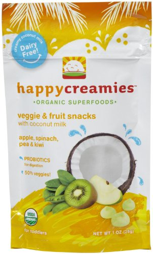 Happy Baby Happy Creamies Organic Superfoods Apple Spinach Pea and Kiwi 1 oz