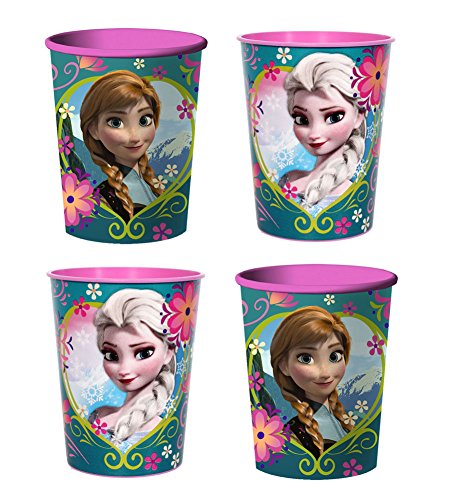 Disneys Frozen 16 Oz Souvenir Plastic Party Cups - Set of 4