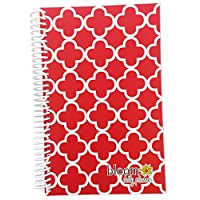Academic Year OR Calendar Year Daily Planner - Red Quatrefoil Cute Fashion Day Planner by bloom daily planners. Academic Year (August 2014 - July 2015) OR Calendar Year (January 2015 - December 2015) Versions Available - Select Below