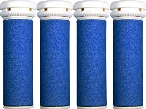 4 x Extra Coarse Blue Micro Mineral Replacement Rollers - Compatible with Micro Pedi