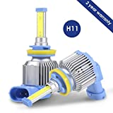 H11 H8 H9 LED Headlight Bulbs, ProGreen LED Headlamp Conversion Kits for Cars Automotive, 80W 6000LM 6500K Cool White (Pack of 2)