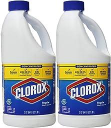 Clorox Bleach Regular, 64 oz - 2 Pack
