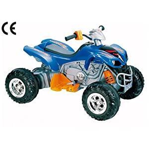 12v Mega Electric Ride On Kids Quad Bike In Blue - Ages 3+ Years