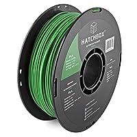 HATCHBOX 3D PLA-1KG3.00-GRN PLA 3D Printer Filament, Dimensional Accuracy +/- 0.05 mm, 1 kg Spool, 3.00 mm, Green by HATCHBOX