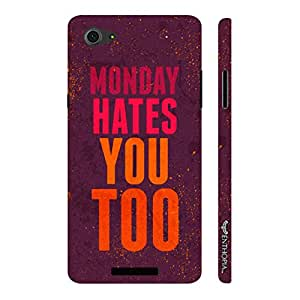 Micromax Canvas Hue 2 A316 Monday Hates You Too designer mobile hard shell case by Enthopia