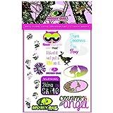 Mossy Oak Pink Girls Binder Stickers Kids School Stickers 1 Sheet