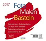 Foto-Malen-Basteln quer wei� 2017: Ka...