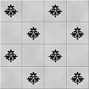 bathroom tile sticker set x36 stickers black to fit 6 tiles