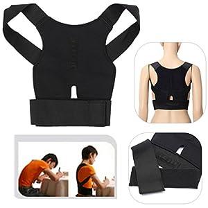 CAMTOA Ajustable Ceinture Correcteur Posture Dos Épaule Support Therapie Magnétique