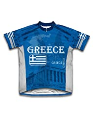 Greece Short Sleeve Cycling Jersey for Women