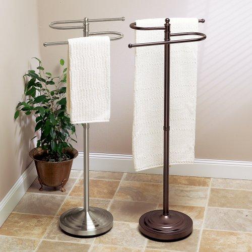 Towel Rack Standard Height: Gatco 1506 Floor Standing S Style Towel Holder, Satin