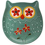 Stoneware Owl Plate - Blue