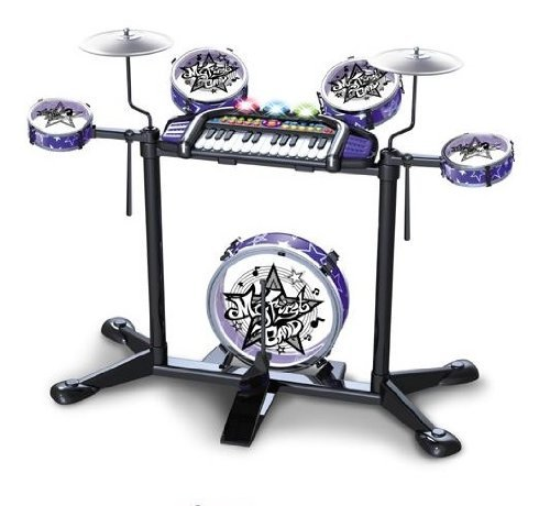 Kids Authority Digital Drum Set With Stand For Kids- Kids Drum Set - Large Size - Color Vary