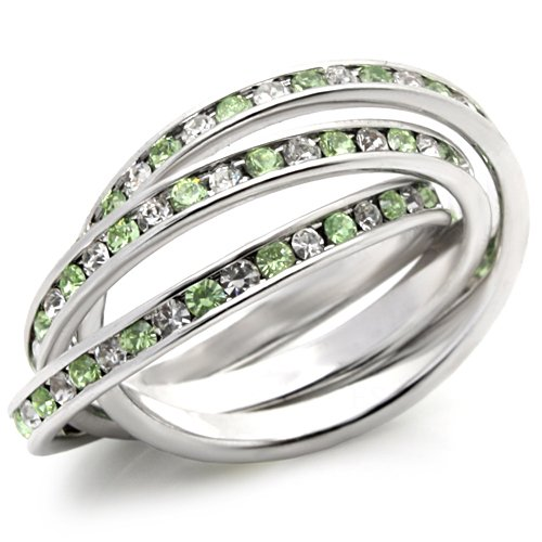 Jewelry - Stackable Peridot Swarovski Ring SZ 7