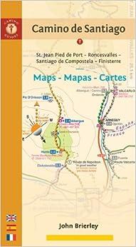 Camino de santiago maps st jean pied de port roncesvalles to finisterre via santiago de - St jean pied de port to roncesvalles ...