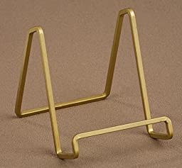 1 X 4 Gold Metal Square Wire Stand Plate Art Photo Holder Display by Tripar