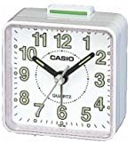 Casio TQ140-7 Travel Quartz Beep Alarm Clock (White)