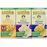 Annie's Homegrown Organic Variety Macaroni and Cheese, 12-count, 4Pounds 8oz