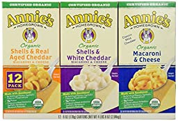 Annie\'s Homegrown Organic Variety Macaroni and Cheese, 12-count, 4Pounds 8oz
