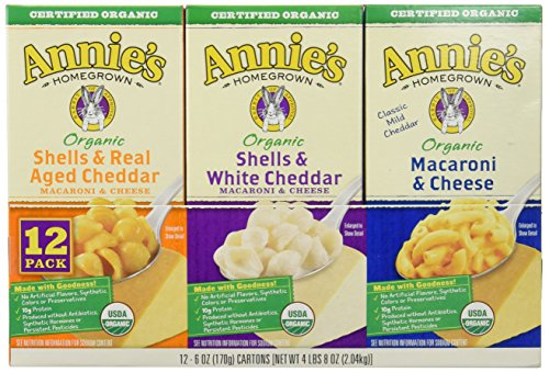 Annie's Homegrown Organic Variety Macaroni and Cheese, 12-count, 4Pounds 8oz (Mac Cheese compare prices)