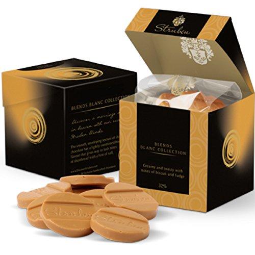 Struben Luxurious cioccolato bianco - cremoso e aromatico con sentori di biscotto e fudge - cacao 32% - 18 Moments Chocolate - il cioccolato contiene meno zucchero