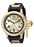 Invicta Men's 1438 Russian Diver Gold Stainless Steel Watch with Polyurethane Band