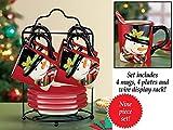 Holiday Snowman Mug and Plate Set
