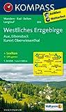 Westliches Erzgebirge - Aue - Eibenstock - Kurort Oberwiesenthal: Wanderkarte mit Kurzführer, Radwegen und Loipen. GPS-genau. 1:50000