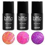 BMC 3pc Neon Glitter Sheer Jelly UV/LED Gel Nail Polish Fringe Benefits Full Master Set