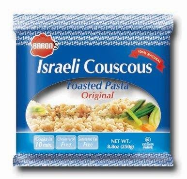 Baron's Kosher Original Traditional Israeli Couscous Toasted Pasta 8.8-ounce Bags (Pack of 6)