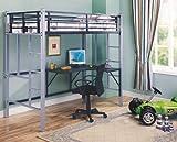 Metal Twin Workstation Loft Bunk Bed With Desk