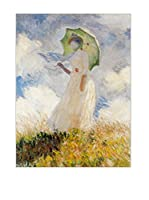 Artopweb Panel Decorativo Monet Lady With Umbrella 80x60 cm Multicolor