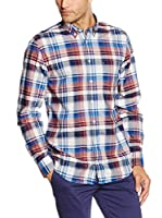 Tommy Hilfiger Camisa Hombre Rock Chk Nf1 (Rojo / Azul)