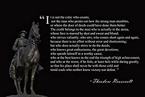 Amazon.com: Theodore Roosevelt Man In The Arena Poster