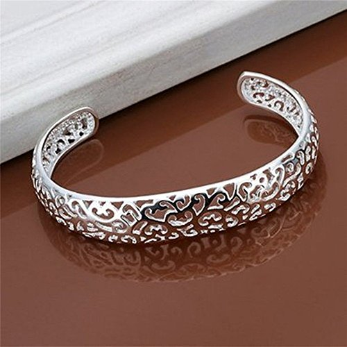 NYKKOLA Elegant 925 Sterling Silver plated Hollow