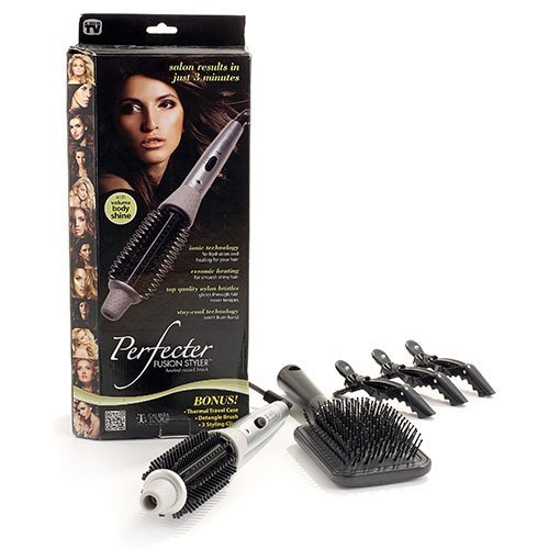 Calista Tools Perfecter Fusion Hair Styler Heated Round Brush Plus ...