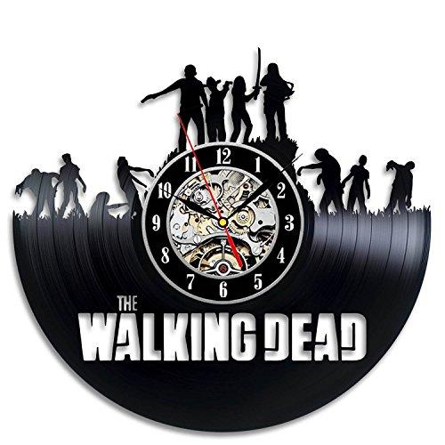 The Walking Dead Art Vinyl Wall Clock Gift Room Modern Home Record Vintage Decoration