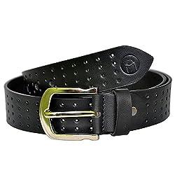 MOSPL Men's Leather Belt (OMBT3018_Black_40)